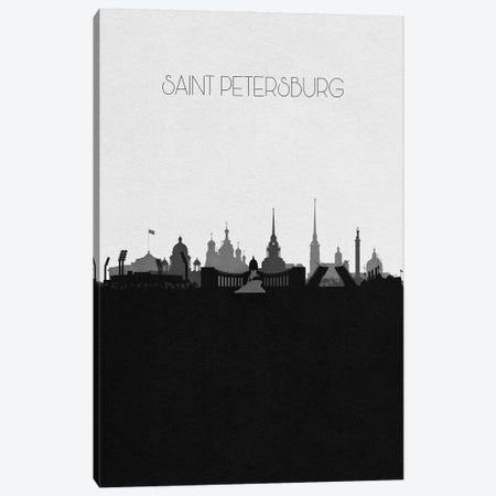 Saint Petersburg, Russia City Skyline Canvas Print #ADA403} by Ayse Deniz Akerman Art Print