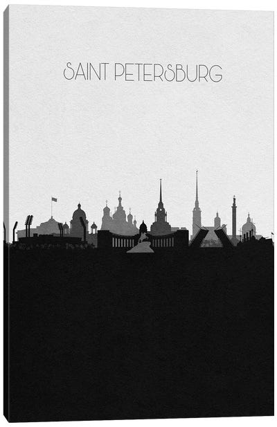 Saint Petersburg, Russia City Skyline Canvas Art Print