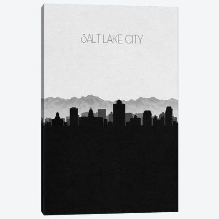 Salt Lake City, Utah Skyline Canvas Print #ADA404} by Ayse Deniz Akerman Canvas Art