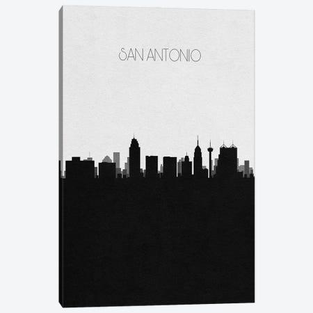 San Antonio, Texas City Skyline Canvas Print #ADA406} by Ayse Deniz Akerman Canvas Art