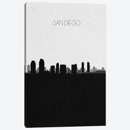 San Diego, California City Skyline Canvas Print #ADA407} by Ayse Deniz Akerman Canvas Art