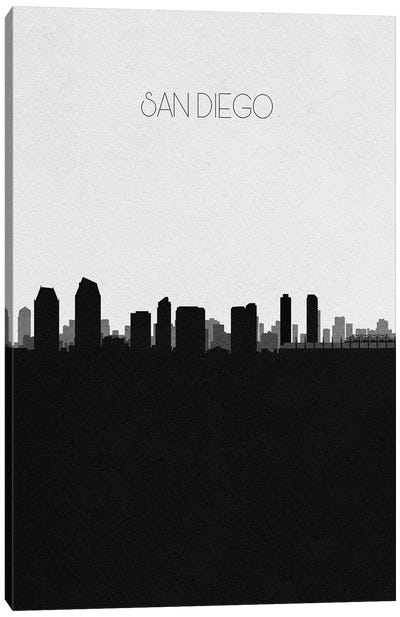San Diego, California City Skyline Canvas Art Print
