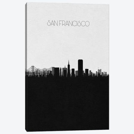 San Francisco, California City Skyline Canvas Print #ADA408} by Ayse Deniz Akerman Art Print