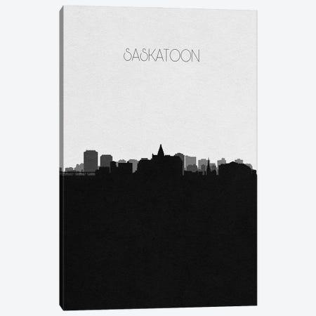 Saskatoon, Canada City Skyline Canvas Print #ADA409} by Ayse Deniz Akerman Canvas Print
