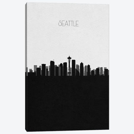 Seattle, Washington City Skyline Canvas Print #ADA410} by Ayse Deniz Akerman Canvas Wall Art