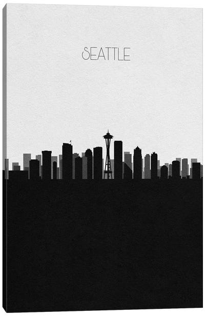 Seattle, Washington City Skyline Canvas Art Print