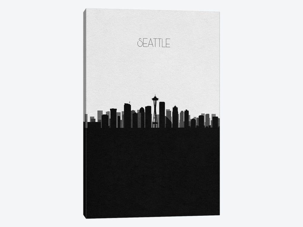 Seattle, Washington City Skyline by Ayse Deniz Akerman 1-piece Canvas Art Print