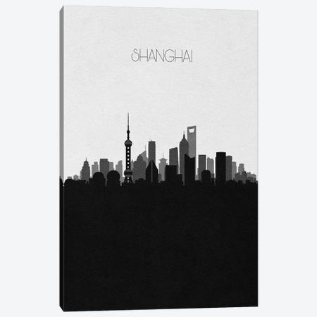Shanghai, China City Skyline Canvas Print #ADA412} by Ayse Deniz Akerman Canvas Art
