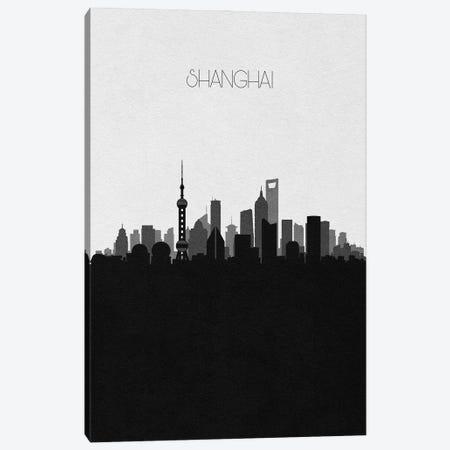 Shanghai, China City Skyline Canvas Print #ADA412} by Ayse Deniz Akerman Canvas Art