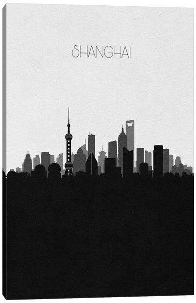 Shanghai, China City Skyline Canvas Art Print