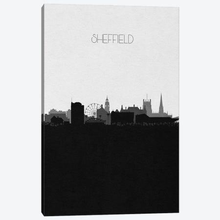 Sheffield, England City Skyline Canvas Print #ADA414} by Ayse Deniz Akerman Art Print