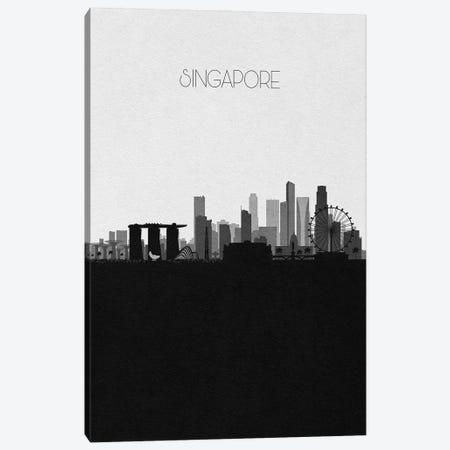 Singapore City Skyline Canvas Print #ADA415} by Ayse Deniz Akerman Canvas Art Print
