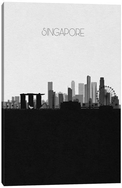 Singapore City Skyline Canvas Art Print