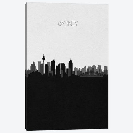 Sydney, Australia City Skyline Canvas Print #ADA417} by Ayse Deniz Akerman Canvas Art Print