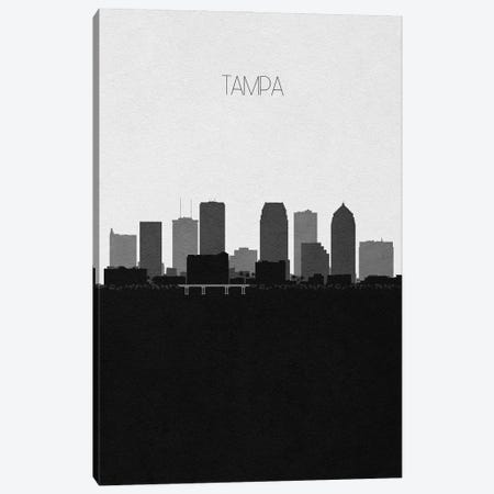 Tampa, Florida City Skyline 3-Piece Canvas #ADA419} by Ayse Deniz Akerman Canvas Artwork