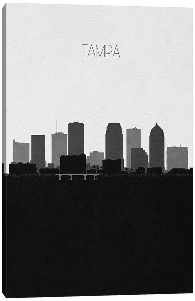 Tampa, Florida City Skyline Canvas Art Print
