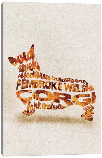 Pembroke Welsh Corgi Canvas Art Print