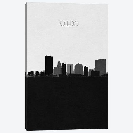 Toledo, Ohio City Skyline Canvas Print #ADA422} by Ayse Deniz Akerman Canvas Art Print