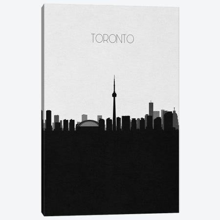 Toronto, Canada City Skyline Canvas Print #ADA423} by Ayse Deniz Akerman Canvas Art Print