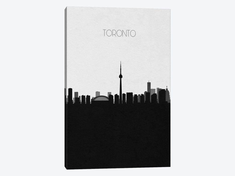 Toronto, Canada City Skyline by Ayse Deniz Akerman 1-piece Canvas Print