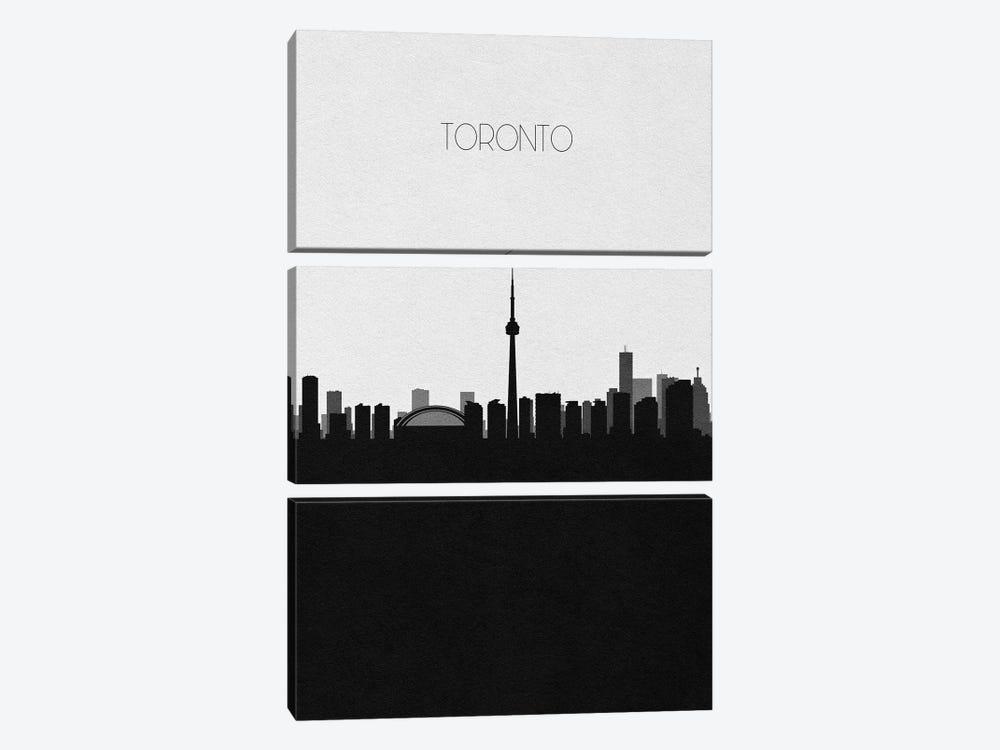 Toronto, Canada City Skyline by Ayse Deniz Akerman 3-piece Canvas Print