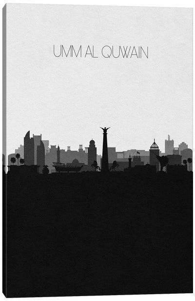 Umm Al Quwain, Uae City Skyline Canvas Art Print