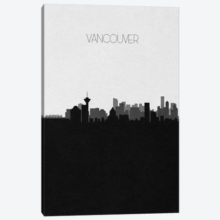 Vancouver, Canada City Skyline Canvas Print #ADA426} by Ayse Deniz Akerman Canvas Art