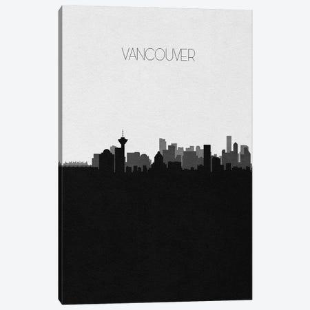 Vancouver, Canada City Skyline Canvas Print #ADA426} by Ayse Deniz Akerman Canvas Art