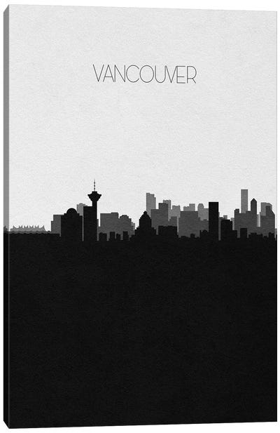 Vancouver, Canada City Skyline Canvas Art Print