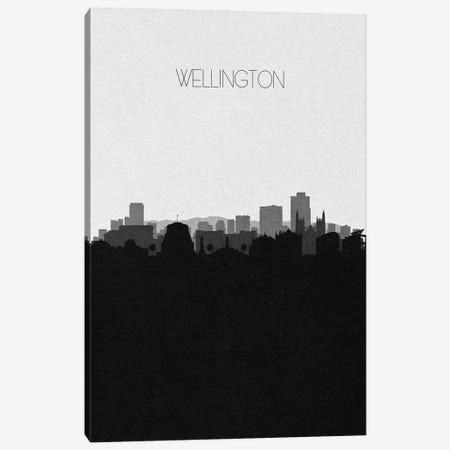 Wellington, New Zealand City Skyline Canvas Print #ADA430} by Ayse Deniz Akerman Canvas Wall Art