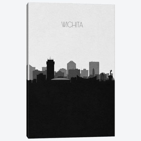 Wichita, Kansas City Skyline Canvas Print #ADA431} by Ayse Deniz Akerman Canvas Art