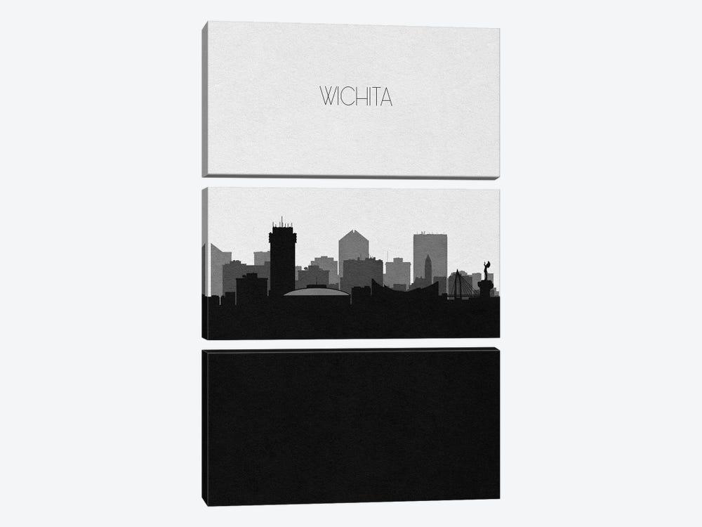 Wichita, Kansas City Skyline by Ayse Deniz Akerman 3-piece Canvas Art