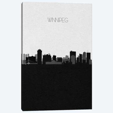 Winnipeg, Canada City Skyline Canvas Print #ADA432} by Ayse Deniz Akerman Canvas Art