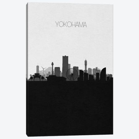 Yokohama, Japan City Skyline Canvas Print #ADA434} by Ayse Deniz Akerman Art Print