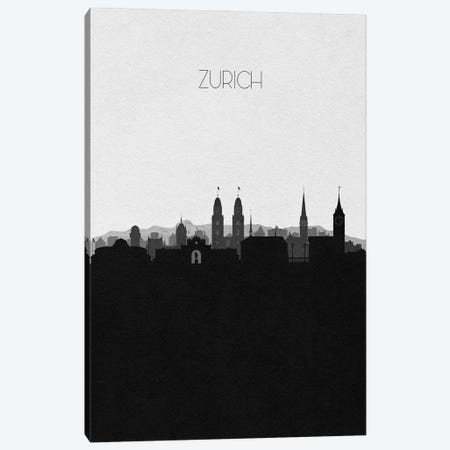 Zurich, Switzerland City Skyline Canvas Print #ADA435} by Ayse Deniz Akerman Canvas Art Print