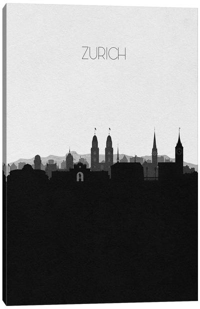 Zurich, Switzerland City Skyline Canvas Art Print