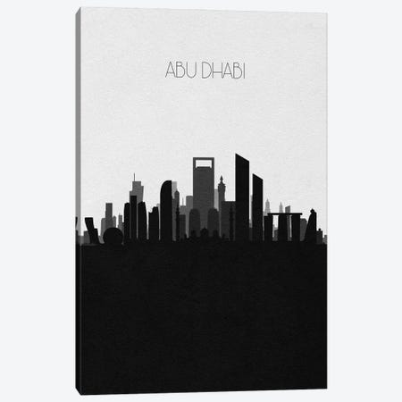 Abu Dhabi, Uae Skyline Canvas Print #ADA436} by Ayse Deniz Akerman Art Print