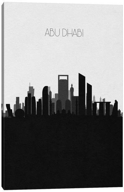 Abu Dhabi, Uae Skyline Canvas Art Print