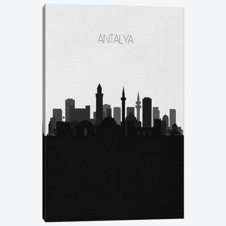 Antalya, Turkey City Skyline Canvas Print #ADA437} by Ayse Deniz Akerman Canvas Art Print