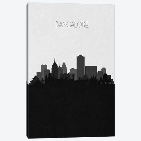 Bangalore, India City Skyline Canvas Print #ADA438} by Ayse Deniz Akerman Canvas Wall Art