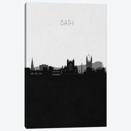 Bath, England City Skyline Canvas Print #ADA439} by Ayse Deniz Akerman Canvas Artwork