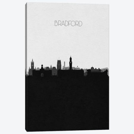 Bradford, England City Skyline Canvas Print #ADA440} by Ayse Deniz Akerman Art Print