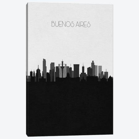 Buenos Aires, Argentina City Skyline 3-Piece Canvas #ADA442} by Ayse Deniz Akerman Canvas Art Print