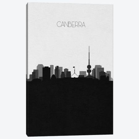 Canberra, Australia City Skyline Canvas Print #ADA443} by Ayse Deniz Akerman Canvas Print