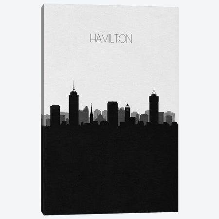 Hamilton, Canada City Skyline Canvas Print #ADA453} by Ayse Deniz Akerman Canvas Artwork