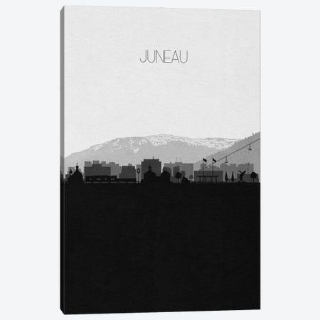 Juneau, Alaska City Skyline Canvas Print #ADA457} by Ayse Deniz Akerman Canvas Art Print