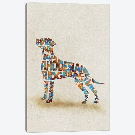 Rhodesian Ridgeback Canvas Print #ADA45} by Ayse Deniz Akerman Canvas Wall Art