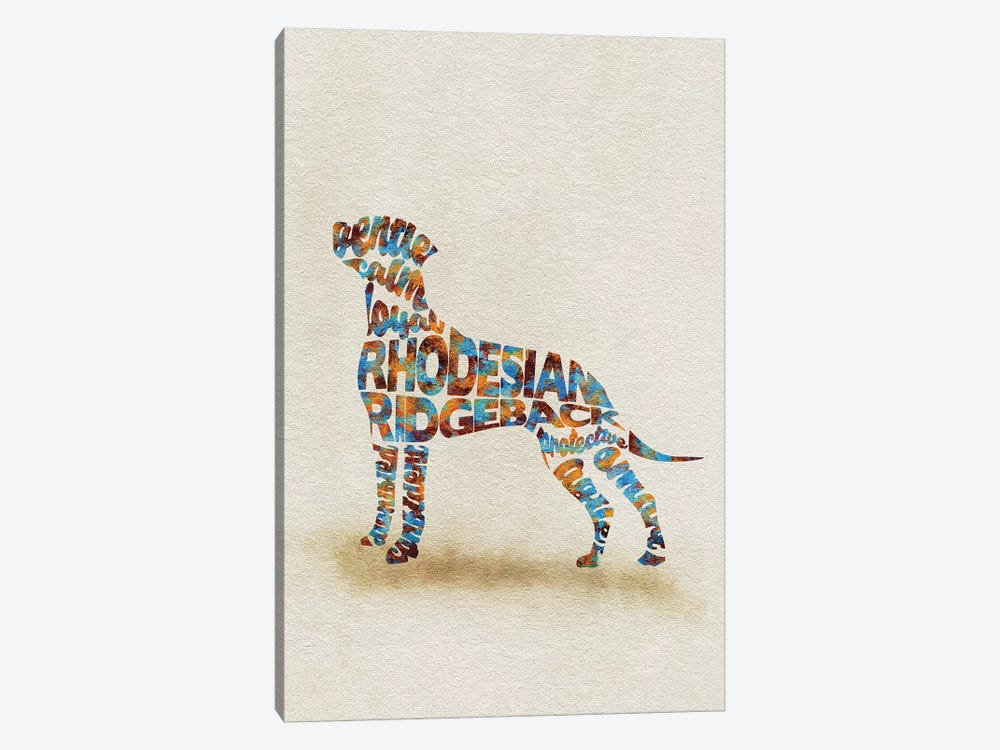 Rhodesian Ridgeback by Ayse Deniz Akerman 1-piece Canvas Artwork