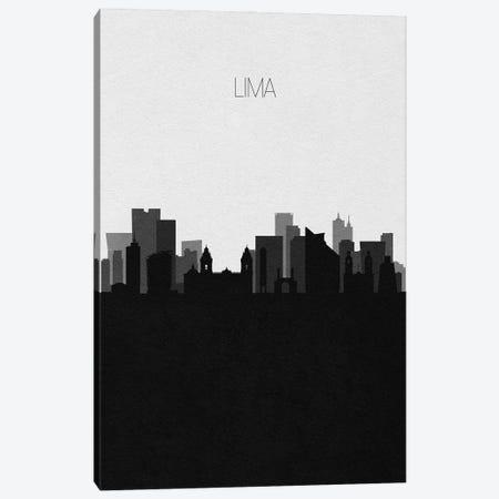 Lima, Peru City Skyline Canvas Print #ADA461} by Ayse Deniz Akerman Canvas Print