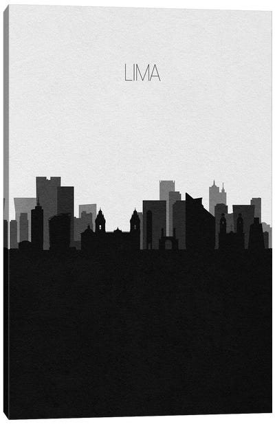 Lima, Peru City Skyline Canvas Art Print